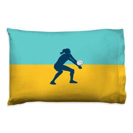 Volleyball Pillowcase - Girl Silhouette