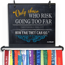 BibFOLIO Plus Race Bib and Medal Display Chalkboard Only Those Who Risk