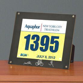 BibDISPLAY - Runners Race Bib Frame - Tri Girl Stick Figures