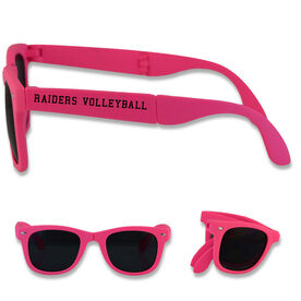 Personalized Volleyball Foldable Sunglasses Your Team Name