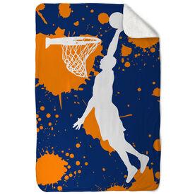 Basketball Sherpa Fleece Blanket Slam Dunk