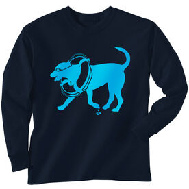 Swimming Tshirt Long Sleeve Finn The Swim Dog