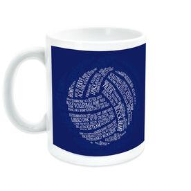 Volleyball Ceramic Mug Words