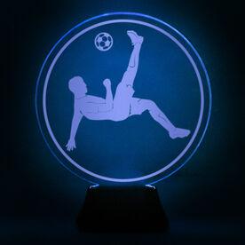 Soccer Acrylic LED Lamp Bicycle Kick