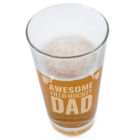 20 oz. Beer Pint Glass Awesome Field Hockey Dad