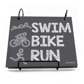 BibFOLIO® Race Bib Album - Swim.Bike.Run