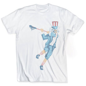 Guys Lacrosse Vintage T-Shirt - Stars and Stripes