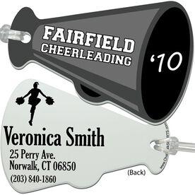 Custom Cheerleading Megaphone Bag Tag
