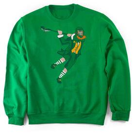 Guys Lacrosse Crew Neck Sweatshirt - St. Hat-Tricks