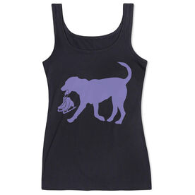 Figure Skating Women's Athletic Tank Top Axel The Figure Skating Dog