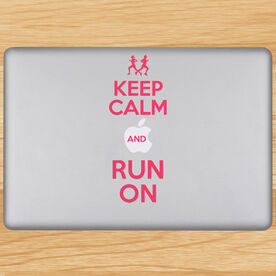 Keep Calm And Run On Removable GoneForaRunGraphix Laptop Decal