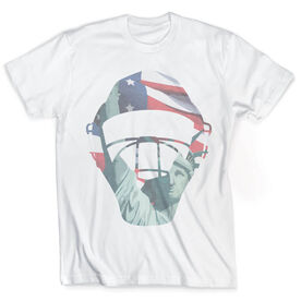 Vintage Baseball T-Shirt - Catcher's American Pride