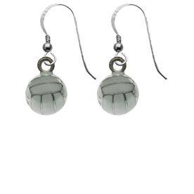 Volleyball Silver/Enamel Earrings