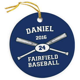 Baseball Porcelain Ornament Custom Baseball Team