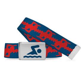 Swimming Lifestyle Belt Swimmer Pattern