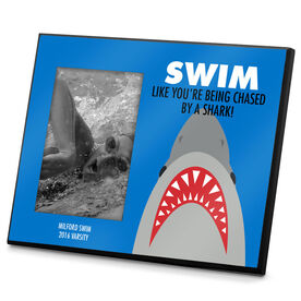 Swimming Photo Frame Swim Like Your Being Chased By a Shark