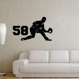 Baseball Fielder Removable ChalkTalkGraphix Wall Decal