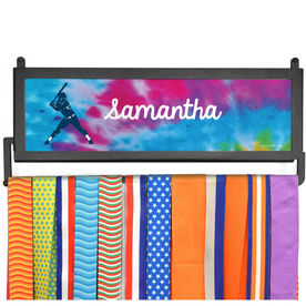 AthletesWALL Medal Display - Personalized Batter With Tie-Dye