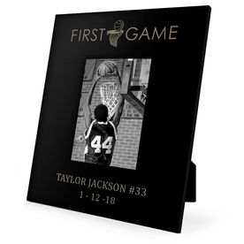 Basketball Engraved Picture Frame - First Game