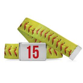 Softball Lifestyle Belt Stitches