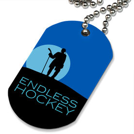 Endless Hockey Printed Dog Tag Necklace