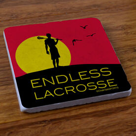 Endless Lacrosse (Male) - Stone Coaster