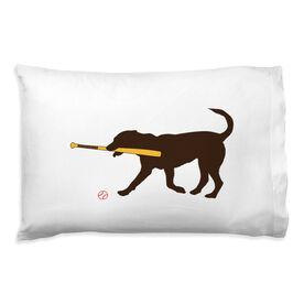 Baseball Pillowcase - Buddy The Baseball Dog