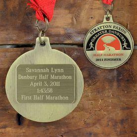 Large Custom RaceSTATS Engraved Medal Plate