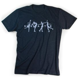 Figure Skating Short Sleeve T-Shirt - Skate With Silhouettes