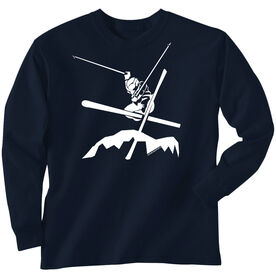 Skiing Tshirt Long Sleeve Airborne Skiing