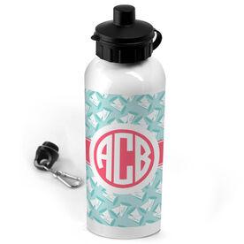 Cheerleading 20 oz. Stainless Steel Water Bottle Monogram with Megaphone Pattern