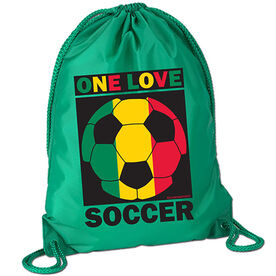 One Love Soccer Sport Pack Cinch Sack