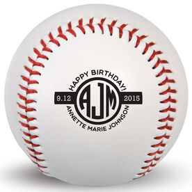 Custom Baseball Birthday Monogram