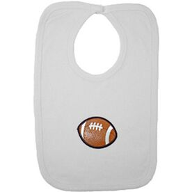 Baby Bib with Football Embellishment