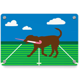 Field Hockey Metal Wall Art Panel - Flick The Field Hockey Dog