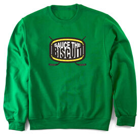 Hockey Crew Neck Sweatshirt Sauce the Biscuit