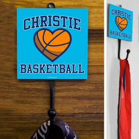 Basketball Hook Personalized Basketball Heart