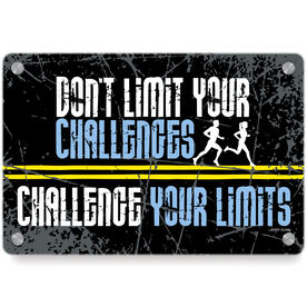 Running Metal Wall Art Panel - Don't Limit Your Challenges