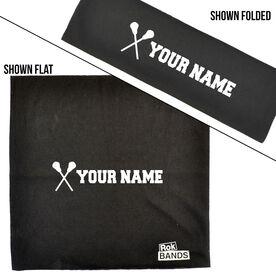 RokBAND Multi-Functional Headband - Personalized Name Guys Lacrosse Sticks