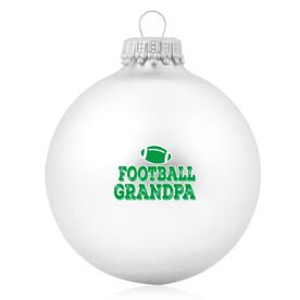 Football Glass Ornament Football Grandpa