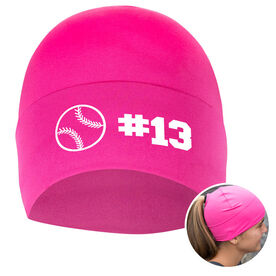 Performance Ponytail Cuff Hat Personalized Number Softball Ball