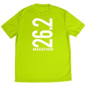 Men's Running Customized Short Sleeve Tech Tee 26.2 Marathon Vertical