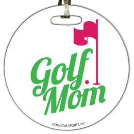 Golf Circle Bag/Luggage Tag Golf Mom