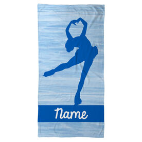 Figure Skating Beach Towel Personalized Figure Skater