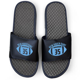 Football Navy Slide Sandals - Number In Ball