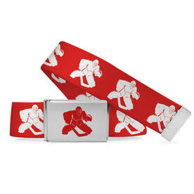 Hockey Lifestyle Belt Hockey Goalie Silhouette