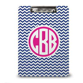 Running Custom Clipboard Monogrammed Chevron Run Girl Stick Figure