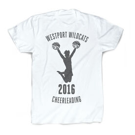 Vintage Cheerleading T-Shirt - Personalized Team Name and Year