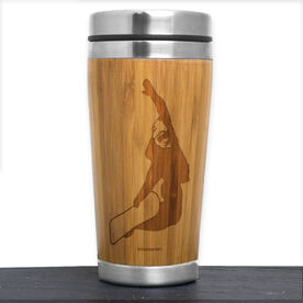 Snowboarding Bamboo Travel Tumbler Snowboarder
