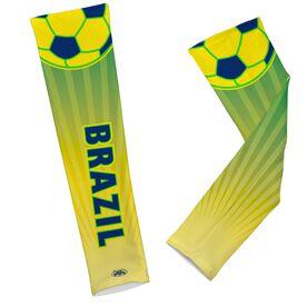 Soccer Printed Arm Sleeves Soccer Brazil
